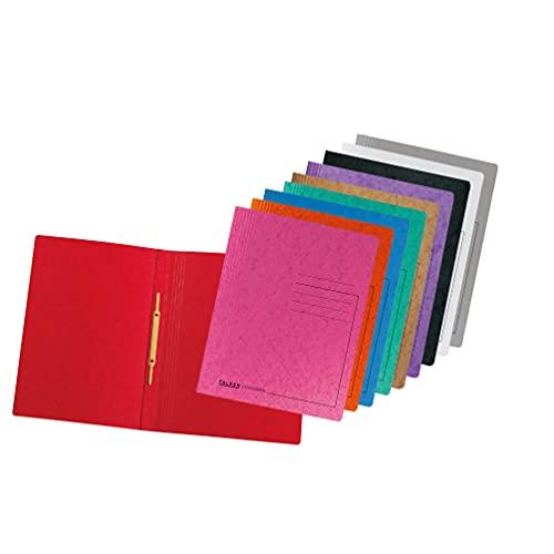 Original Falken 10er Pack Premium Schnellhefter Rainbow. Made in Germany. Aus extra starkem Colorspan-Karton für DIN A4 kaufmännische Heftung farbig sortiert Hefter ideal für Büro und Schule