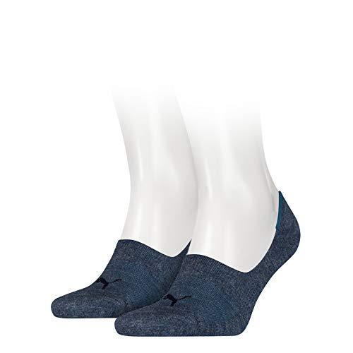 Puma Damen Socken Footie 2er Pack, Denim Blue, 35 - 38, 141011001