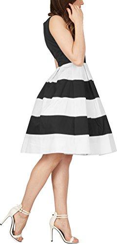 BlackButterfly 'Lilly' Vintage Gestreift Kleid im 50er-Jahre-Stil - 2