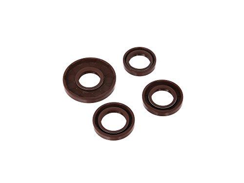Wellendichtringe im SATZ - NJK - für Motor kpl., FPM - braun - S51, S70, KR51/2, SR50, SR80 - 4 Stück