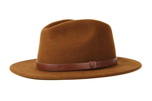 BRIXTON Messer Fedora Hat, Kaffee Braun, 60 cm