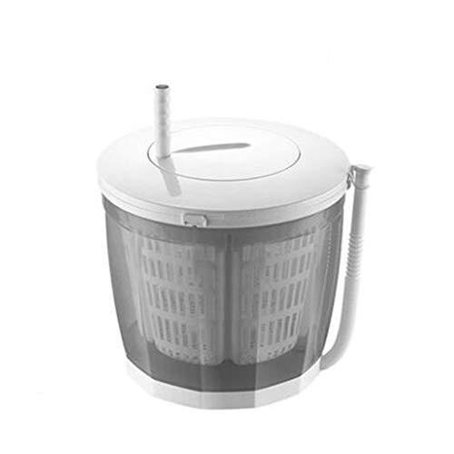 TQMB Tragbare Waschmaschine, Mini-Waschmaschine, Wäschetrockner, 2,0 kg, halbautomatischer Einzelwannen-Wäschetrockner für Apartment, Hotel, Wohnheim,Grau