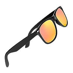 CHEREEKI Polarisierte Sonnenbrille Klassisch Retro UV400 Schutz Brille für Herren Damen (Rot)