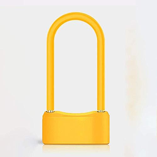 Slim ZHOUM Heavy Duty Fiets U-Lock Electric Car Lock Fiets Lock Anti-diefstal Intelligent beugelslot Lithium Batterij Oplaadbare Anti-dirty Fingerprint Lock Fietsen U Lock