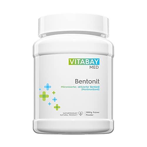Vitabay Bentonit Pulver (1000 g) • Ultrafein • Bis zu 96% Montmorillonit • Tribomechanisch mikronisiert und aktiviert • Pharmaqualität