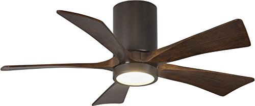 Matthews IR5HLK-TB-WA-42 Irene 42' Outdoor Hugger Ceiling Fan with LED Light and Remote & Wall...