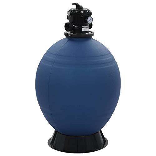 vidaXL Sandfilter mit 6 Wege Ventil Sandfilteranlage Poolfilter Poolpumpe Filteranlage Pool Filter Filterkessel Schwimmbad Blau 660 mm 12 m³/h