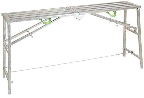 WLG Escalera de mano, pliegue de escalera Multifunción Espesar Decoración Taburete de caballo Rise Drop Andamio Ingeniería Plataforma de tubo cuadrado Taburete Escalera de doble barra,140cm: Amazon.es: Bricolaje y herramientas