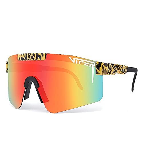pit viper gafas de sol doble ancho polarizado espejo lente tr90 marco uv400 protección con funda C18