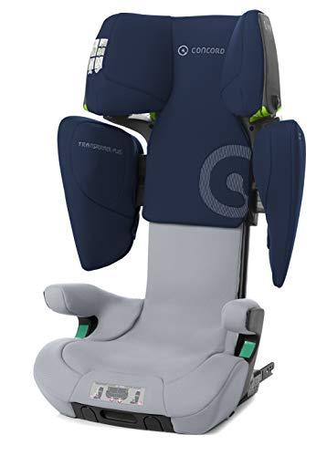 Concord Transformer iPlus i-Size-Kindersitz, von 100 bis 150 cm, ab 3,5 bis 12 Jahre, Isofix, pneumatische Höhenverstellung, Farbe Blau (WHALE BLUE)