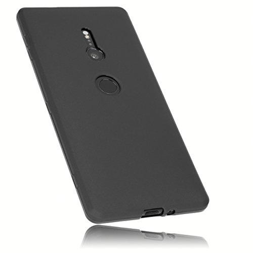 mumbi Hülle kompatibel mit Sony Xperia XZ2 Handy Case Handyhülle, schwarz