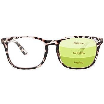 Gaoye Progressive Multifocus Reading Glasses Blue Light Blocking Women/Men,Computer Readers with Spring Hinge  Leopard 1.5