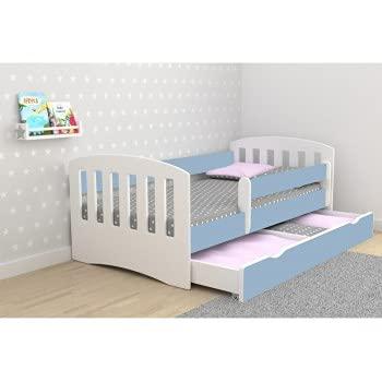 Children's Beds Home - Cama individual Classic 1 - Para niños Niños Niño Niño Junior - Classic 1-160x80, Azul, Sí, 10 cm Espuma / Coco/Alforfón Colchón