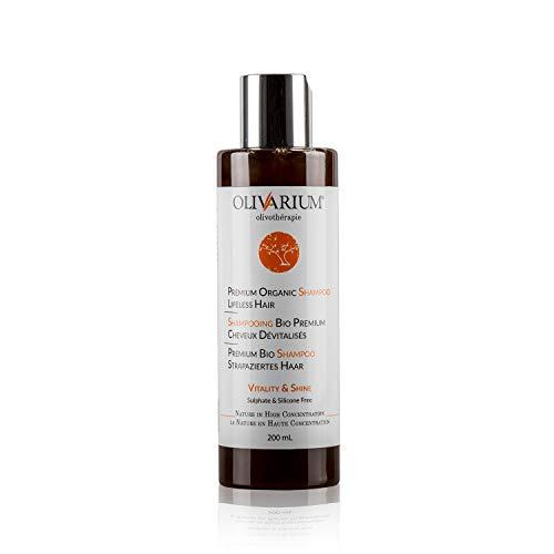 OLIVARIUM - Organic premium shampoo, damaged hair - standard size 200 ml, mahogany (redish-dark brown), standard size 200 ml