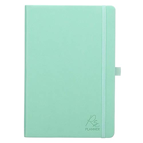 Rolene Strauss Undated Daily Planner w/Scripture for Women - Daily, Weekly, Monthly, Academic Organizer, Dot Grid Notebook, Time Management, Productivity, Mint Green Faux Leather