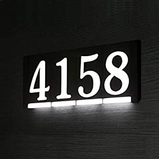 HOMIDEA Backlit Led House Numbers. Light Up House Numbers. Personalized Lighted Address Signs for Houses, Illuminated House Numbers, Address Light Numbers for Houses - Power Module (Required)