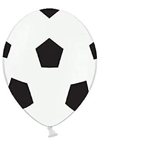 6 globos de látex de 30 cm, diseño de balón de fútbol