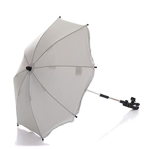 Fillikid Universal Sonnenschirm Sonnenschutz für Kinderwagen & Buggy & Jogger - UV Schutz 50+ / 75 cm Durchmesser/Sonnenschirm biegsam/Universalhalterung für Rund- und Ovalrohre