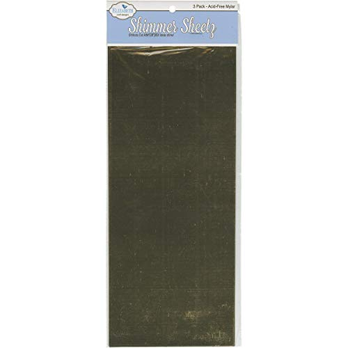 Elizabeth Craft Designs - Plancha de Polietileno tereftalato (Pet, 12,7 x 30,5, 3 Unidades), Color Dorado