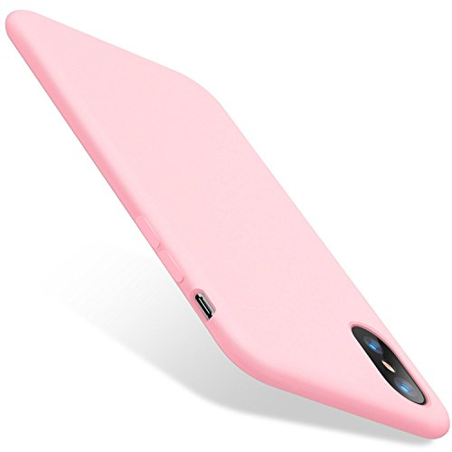 Teryei Funda iPhone XS MAX, Silicona Suave Case Full protección Anti-Golpes Rasguño y Resistente [Ultra Slim ] Anti-Estático Choque Bumper pour iPhone XR (Rosa, iPhone XR)