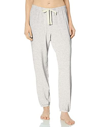 Amazon Essentials Women's Lightweight Lounge Terry Jogger Pajama Pant, Pale Grey Heather, Medium