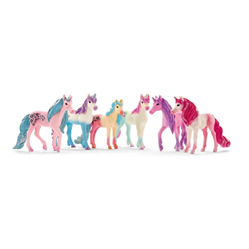 Schleich bayala, Unicorn Gifts for Girls and Boys Ages 5-12, 6-Piece Set, Collectible Unicorn Toys