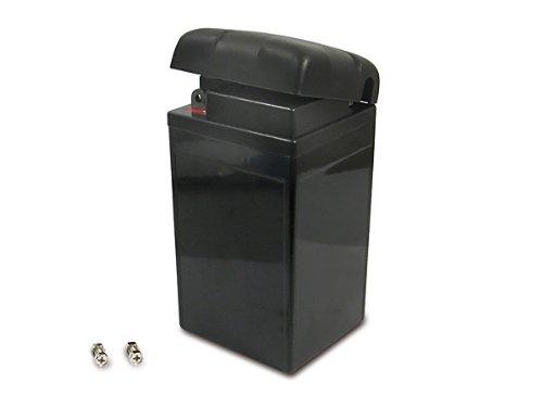 Batterie (Vlies - wartungsfrei) 6V 8,0 Ah schwarz mit Deckel passend für AWO-Touren, AWO-Sport