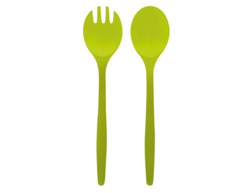 Zak Designs 0204-350 Twins Couverts à Salade 32 cm Vert