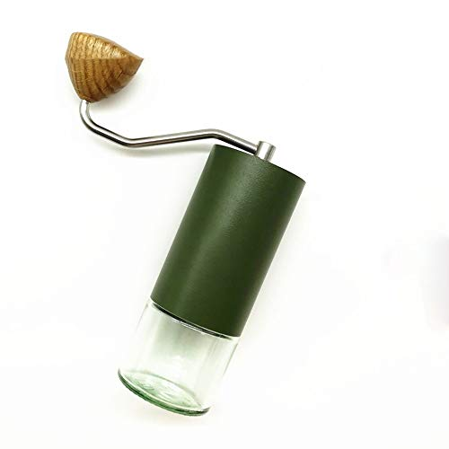 Lowest Prices! Manual Coffee Grinder Portable Hand Coffee Grinder Precision Manual Grinder Household Hand Crank Coffee Grinder Adjustable (Color : Green, Size : One size)