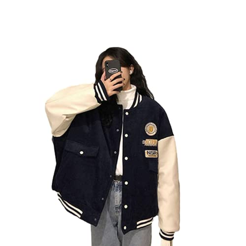 Cslada Damen Strickjacke Brauner Knopf Pullover Nettes Mädchen Ästhetische Kleidung Lose Jacke Koreanische Version Harajuku Stil Baseball Uniform Jacke