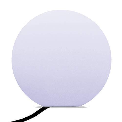 PK Green Erstklassige LED Stehlampe Kugel Modern Wohnzimmer 40cm | Glühbirne E27 Weiß Installiert | Kugelleuchte Leuchtobjekt Dekolampe für Schlafzimmer, Deko, Hochzeit, Party | Bodenlampe Innen Rund