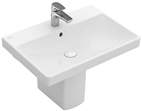 Villeroy&Boch Waschtisch Avento 4158 650x470mm 3-L Arm mittl HL durchg Überl Eckig WeißAlpin C+