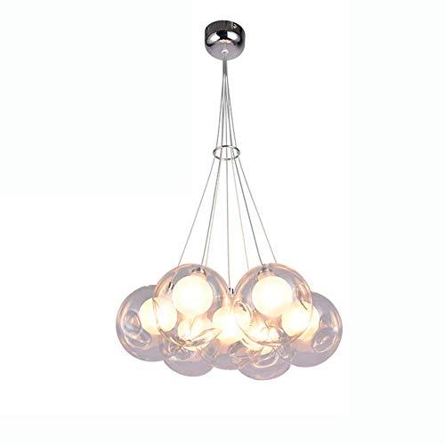 Lámpara colgante luz colgante LED candelabro de bola de burbujas de vidrio blanco sala de estar creativa para niños sala de estar comedor dormitorio tienda de ropa candelabro de esca