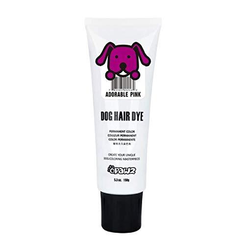Opawz Dog Hair DYE Gel Bright, Fun Shade, Semi-Permanent, Completely Non-Toxic Safe (Pink)