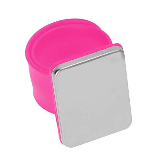 LIXBD Magnetisches Armband mit Bobby-Pin-Haarspangen, magnetisches Silikon-Armband zum Halten von Metall-Bobby-Pins (Farbe: Rosy)