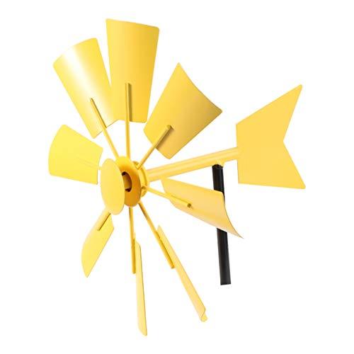 Yarnow Garten Windrad Deko Gartenstecker Windmühle Gartendeko Stecker Metall Dekostecker Eisen Gartenskulptur Statue für Zaun Draussen Terrassen Dekoration