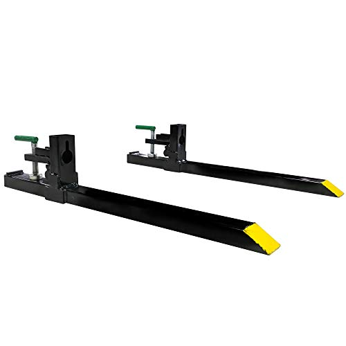 "Titan Attachments Clamp on Pallet Forks 43"" Total 30"" Forks for Loader Bucket Light Duty 1500 lb Capacity"