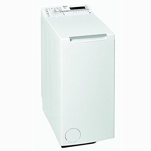 Lave linge Top 6 Kg Whirlpool TDLR60210 - Lave linge Chargement par le dessus - Essorage 1200 tr min - Départ différé - Affichage temps restant - 76 dB - Pose libre - Classe énergétique A+++