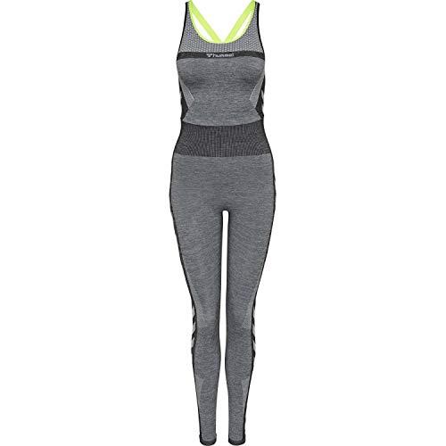 Hummel Damen Jumpsuit Gia Seamless Jumpsuit 206499 Black Melange XL-XXL