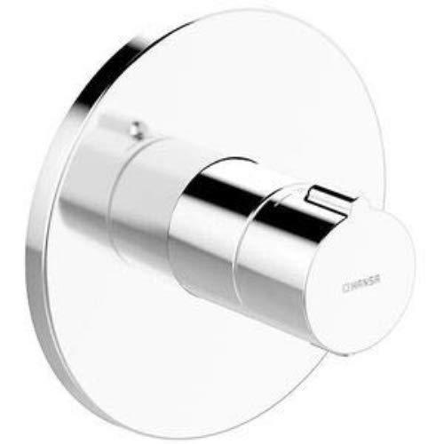 Hansa 88609045 Brausebatterie / Thermostat-Batterie | Rückflussverhinderer, Sicherheitssperre bie 38°C, Schalldämpfer | Durchflussmenge: 24 l/min bei 3 bar