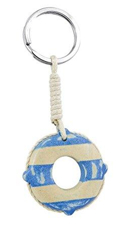 Ten Porte-clés Mini bouée de sauvetage en Bois cod.EL34640 cm 9x3,8x1h by Varotto & Co.