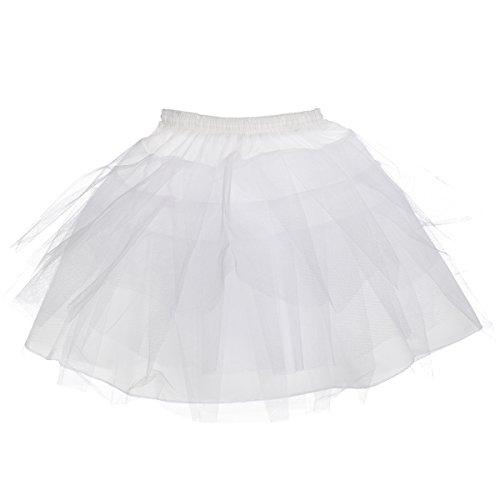 AW Bridal Retro Underskirt 50s Vintage Enaguado falda de red de columpio Rockabilly de 63,5 cm de largo