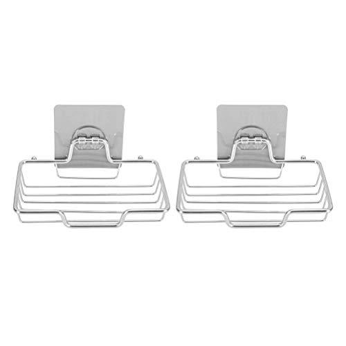 WNDRZ Estante De Jabón Colgante Soporte De Jabón Montado En La Pared De Acero Inoxidable Creativo Sin Orificio Estante De Caja De Drenaje para Almacenamiento De Cocina Placa De Ducha