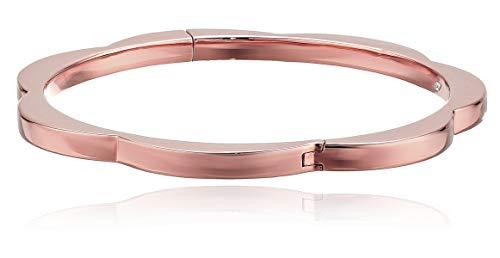 Kate Spade New York Women's Sliced Scallops Hinge Bangle Rose Gold One Size