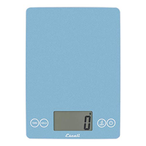 """Escali Arti 157SB Precision Glass Surface Kitchen,Herb, Nutrition, Calorie Counting Scale, Digital LCD Display, 15lb Capacity, Sky Blue, 9"""" x 6.5"""" x 0.75"""""""