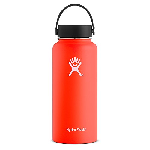 Hydro Flask 32 oz Vacuum Insulated Stainless Steel Water Bottle, Wide Mouth w/Flex Cap, Tangelo