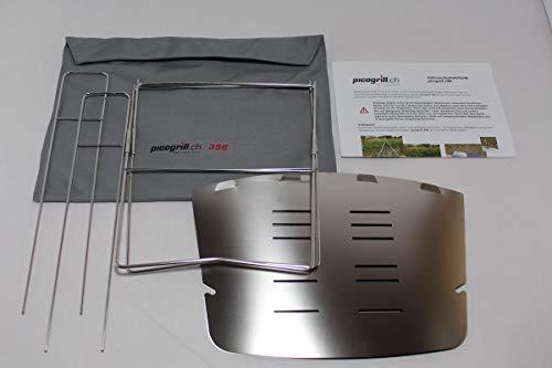 STC社 Picogrill 398 (ピコグリル 398) スピット(串) 2本付属 焚き火台 ネイチャーストーブ 【並行輸入品】