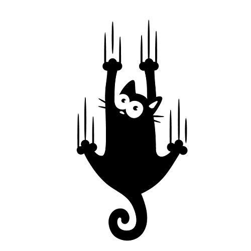 Wandaufkleber mit Katzen-Motiv, Vinyl, lustig, für Zuhause, Küche, Wohnzimmer, Kühlschrank, Dekoration
