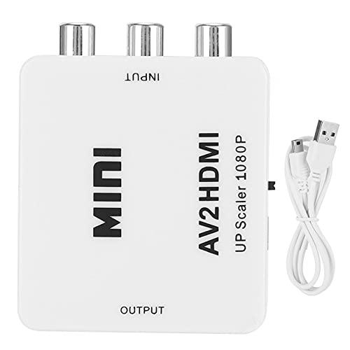 Annjom Adaptador de Audio y Video, a convertidor Plug and Play Profesional práctico y Flexible con Cable de alimentación USB de 1 m para Monitor de TV