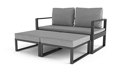 ARTELIA Cassio Street Collection Loungemöbel Personen - Modulares Premium Gartenmöbel Set für Terrasse, Garten und Wintergarten, Terrassenmöbel Anthrazit - 5